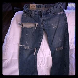 Hollister jeans distressed straight leg